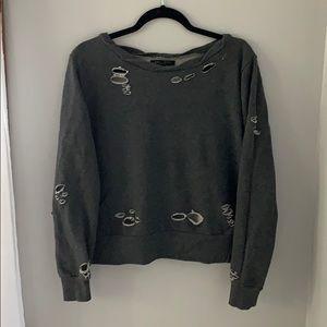 Distressed Open-Side Sweatshirt